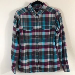 Patagonia long sleeve fjord flannel shirt size 2